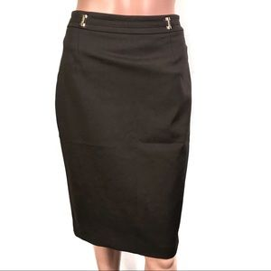 Ivanka Trump Brown Skirt w Back Slit Sz6 BrandNew